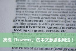 however 中文
