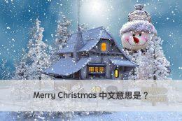 Merry Christmas 中文