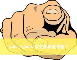your 中文意思 yours 中文意思