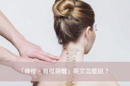 脊椎 脊椎側彎 英文