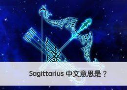 Sagittarius 中文意思