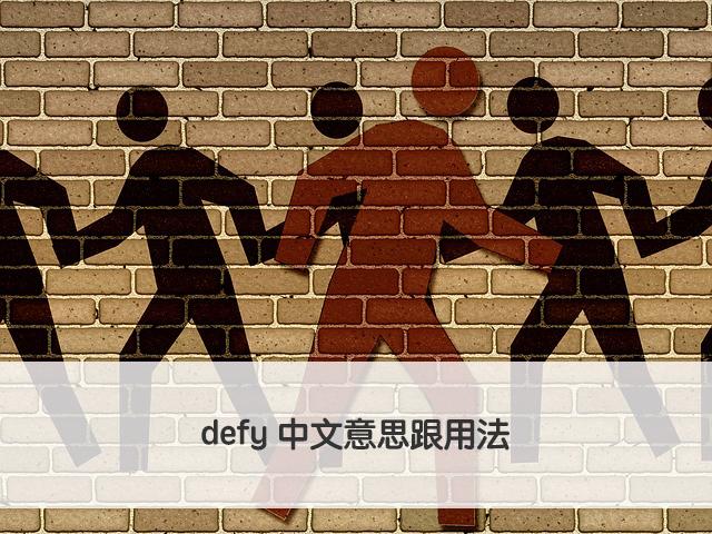 defy 中文意思跟用法