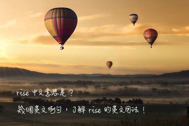rise 中文意思