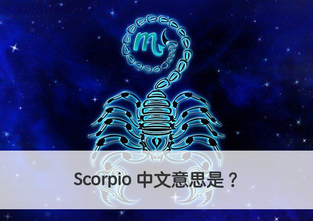 Scorpio 中文意思