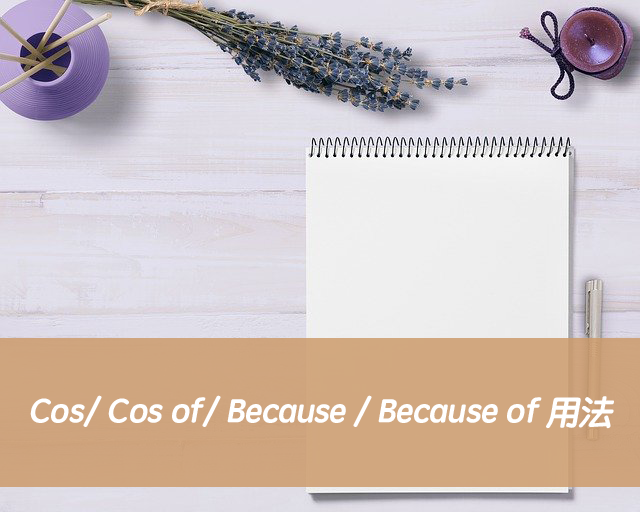 英文Cos/ Cos of/ Because / Because of 用法差異與中文意思
