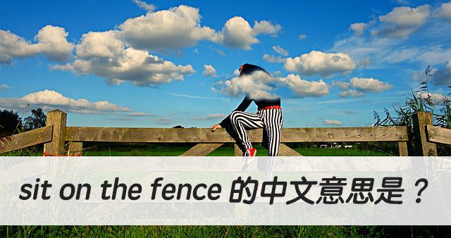 英文 sit on the fence 的中文意思是?
