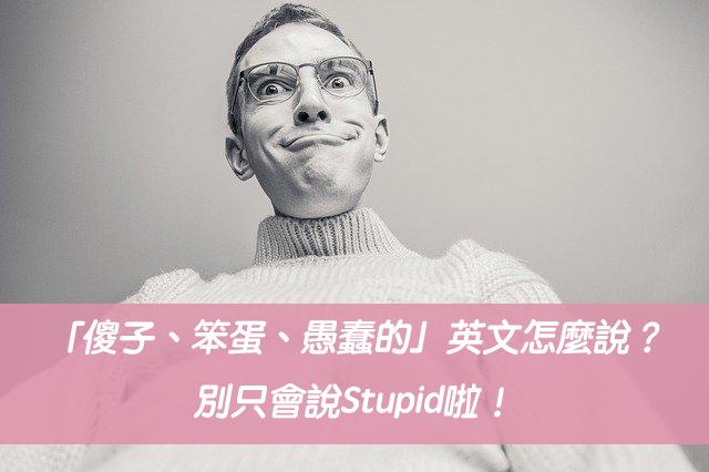 「傻子、笨蛋、愚蠢的」英文怎麼說?別只會說Stupid啦!