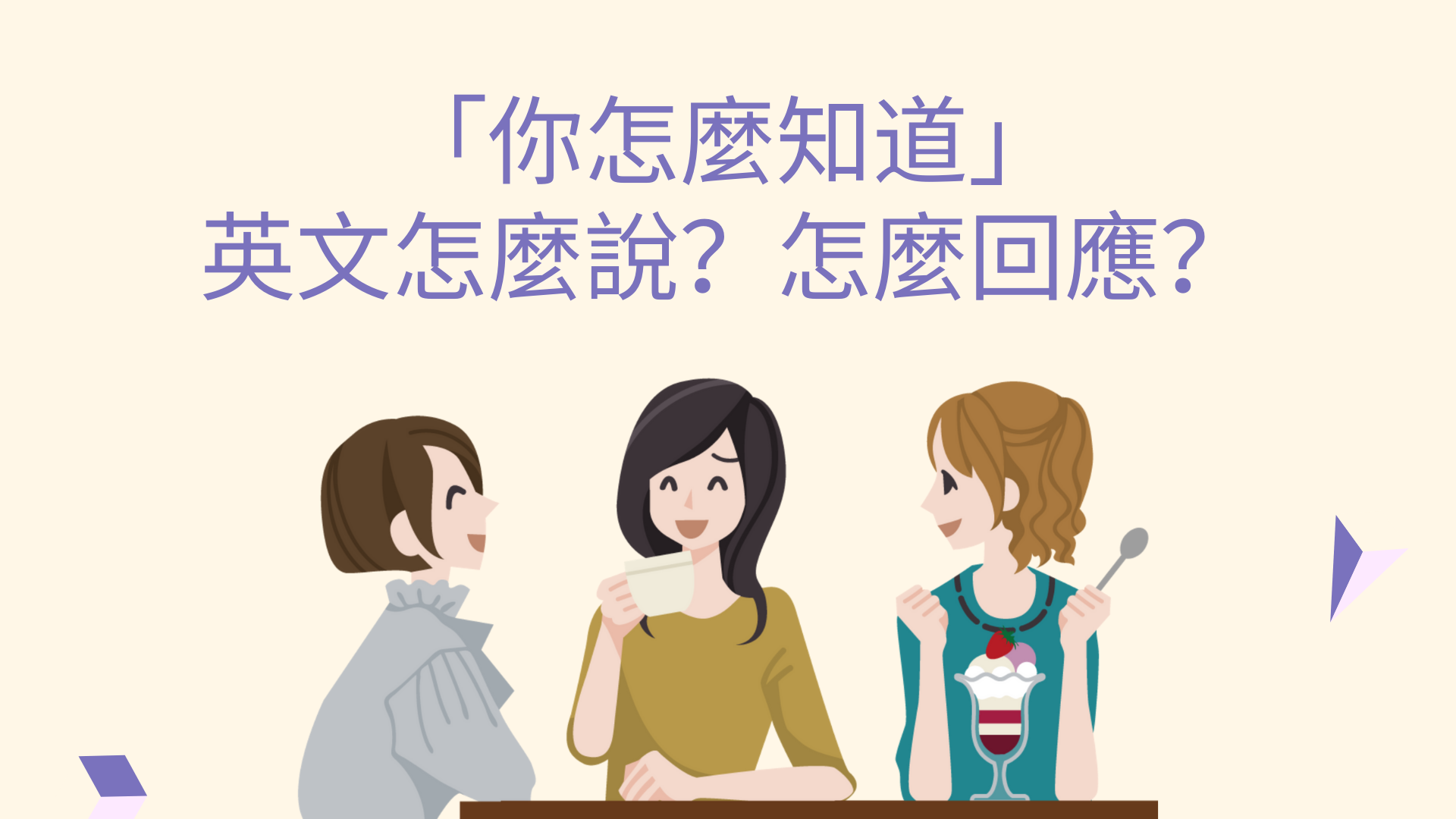 「你怎麼知道」英文怎麼說?怎麼回應?