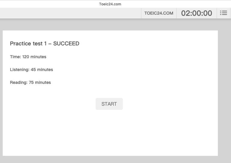 TOEIC24 多益英文聽力&閱讀線上模擬試題