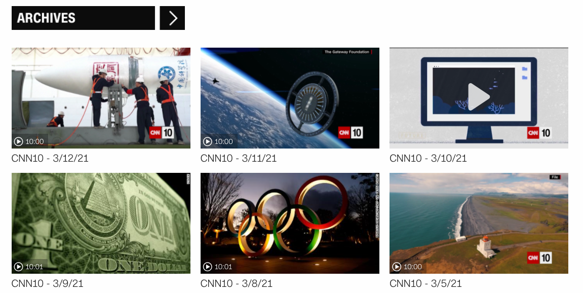 CNN10 英文新聞聽力訓練網站