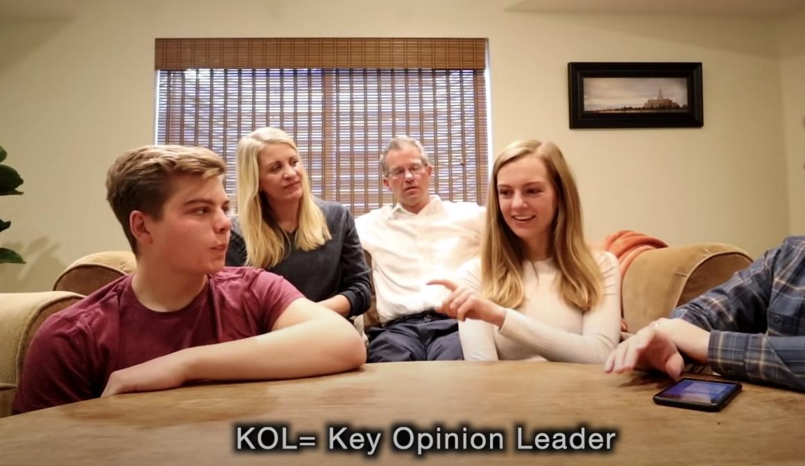 KOL 意思為 Key opinion leader