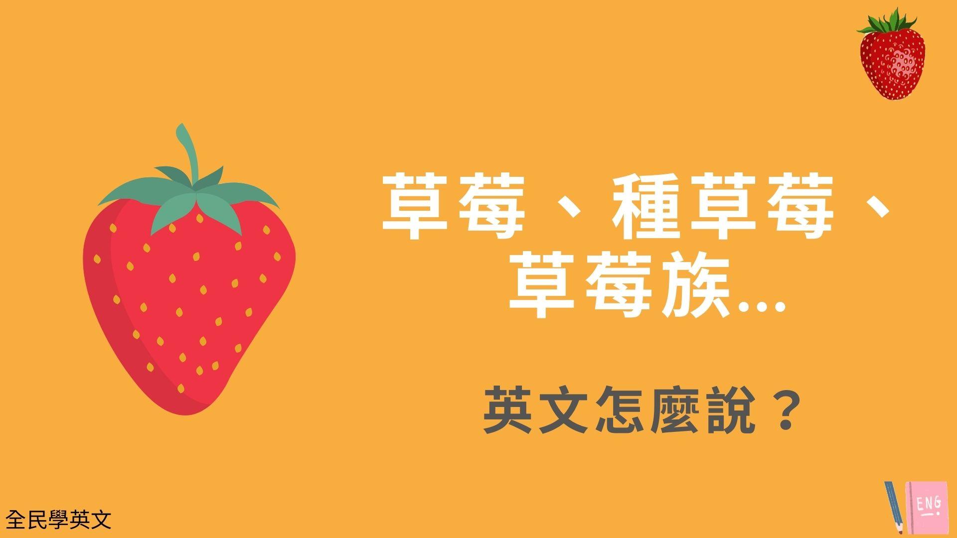 草莓、種草莓、草莓族...英文怎麼說?看例句搞懂
